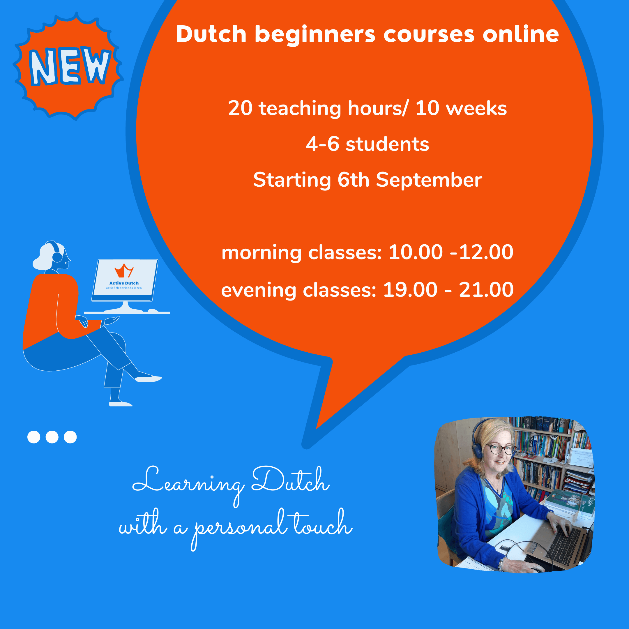 Dutch beginners courses online - Active Dutch